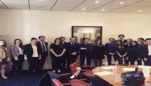 The Grande Ecole du Droit students with the Deprez & Guignot lawyers