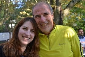 Me Stéphane Baller & Emma Laudinat after the fundraising run