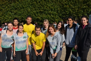 Part of the Grande Ecole du droit team of runners