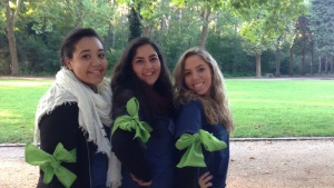 Raphaelle, Yasmine, and Salomé: GED volunteers at the event