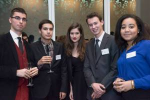 Maxime (left) with younger GED students (from left to right : Raphaël, Lucie, Alexis, Raphaëlle) at EY.