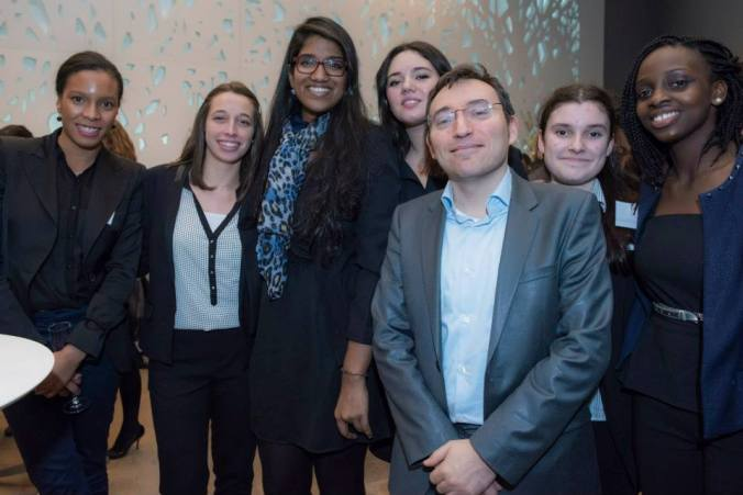 Professor Philippe Achilleas (front) at an EY event with Grande Ecole du Droit students - © Christophe Rabinovici
